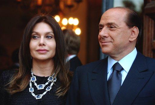 Verónica Lario y Berlusconi, en tiempos más felices